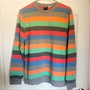 Men's Colorful Striped UO Long Sleeve Sweater